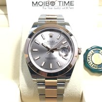 Rolex Datejust II Everose Gold Steel Pink Rose Sundust Dial 41mm