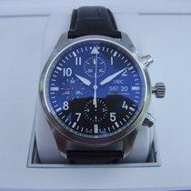IWC Pilot Chronograph Staal 42mm Zwart Arabisch Nederland, Garderen