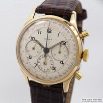 Gallet Tri-Compax Chronograph 14k/585 Gold
