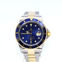 Rolex Submariner Date 16613 18/SS Blue Gold Buckle 40mm