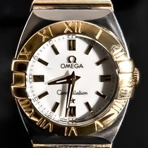 Omega Constellation Double Eagle Guld/Stål 24mm Silver Inga siffror
