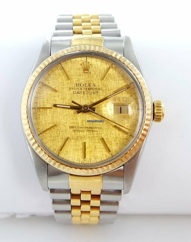4c1f7d744a5 Rolex Datejust Herren Uhr Linen Dial Stahl/gold Ref.16013 für 3.399 €  kaufen von einem Trusted Seller auf Chrono24