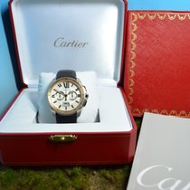 Cartier Calibre de Cartier Chronograph 18k Rosègold Stahl, Ref...