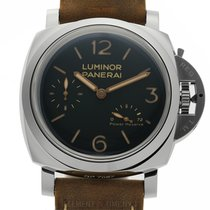 Panerai Luminor 1950 3 Days Power Reserve Aço 47mm Preto