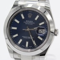 Rolex Datejust II Staal 41mm Blauw