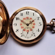 Omega Horloge tweedehands 1915 Roodgoud 54mm Arabisch Handopwind Alleen het horloge