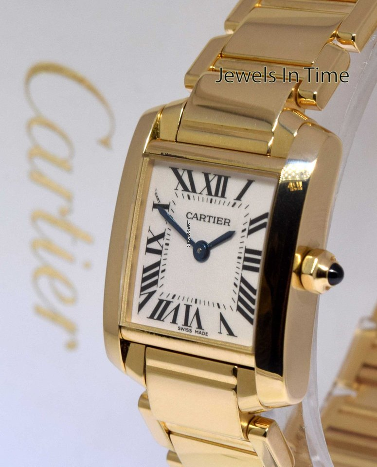 3b8b2590d877a Cartier Ladies Tank Francaise 18k Yellow Gold Watch 1820... for ...