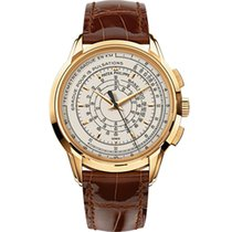 Patek Philippe Chronograph pre-owned 40mm Silver Chronograph Crocodile skin