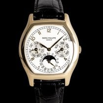 Patek Philippe Red gold Automatic Silver 43mm pre-owned Perpetual Calendar