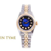 Rolex Oyster Perpetual pre-owned 24mm Blue Gold/Steel