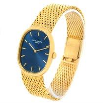 Patek Philippe Golden Ellipse 18k Yellow Gold Blue Dial Watch...