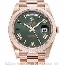 Rolex Oro rojo Automático Verde Romanos 40mm nuevo Day-Date 40