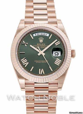 Rolex Day,Date 40 Green Dial Rose Gold Automatic Men\u0027s Watch