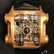 Cabestan Or rose 46.5mm Remontage manuel Luna Nera in Rose Gold nouveau