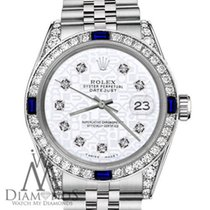 Rolex Lady-Datejust Сталь 31mm Белый Без цифр