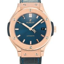 Hublot Classic Fusion Blue pre-owned 38mm Rose gold