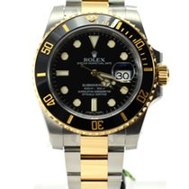 Rolex Submariner bi color steel gold black dial bezel 116613ln