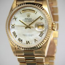 Rolex Day-Date President 18k Yellow Gold MOP Roman Dial Mens...