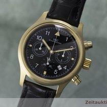 IWC Fliegerchronograph Chronograph 18k (0,750) Gold Herrenuhr...