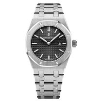 Audemars Piguet Royal Oak Lady Quartz Steel Diamond Black Dial...