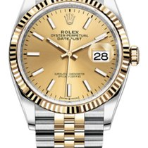 Rolex Datejust 36 Stainless Steel and Yellow Gold 126233