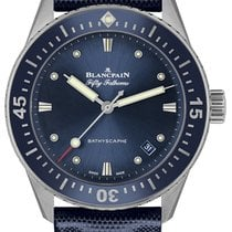 Blancpain Fifty Fathoms Bathyscaphe Steel 38mm Blue United States of America, New York, Airmont