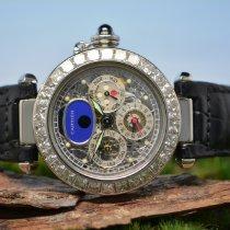Cartier Pasha Perpetual Tourbillon Automatik mit 10ct Diamante...