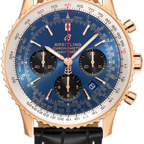 Breitling Rose gold Automatic Blue 43mm new Navitimer 1 B01 Chronograph 43