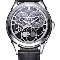 Pequignet Rue Royale Steel 42mm Black No numerals
