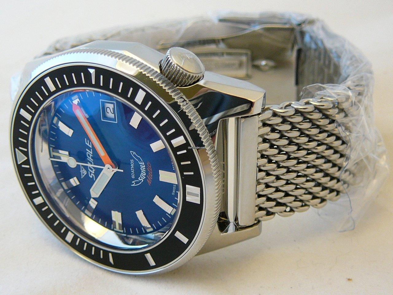 Matic DialBlack Blue 600 Bracelet Squale MtShiny BezelMesh 7vYIb6gfy