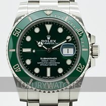 Rolex Submariner Date Stål 40mm Grønn