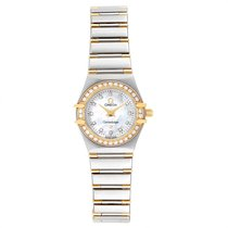 Omega Constellation Ladies Gold/Steel 22.5mm Mother of pearl