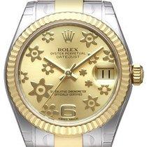 Rolex Datejust 31 Edelstahl Gelbgold 178273 Champagner Floral