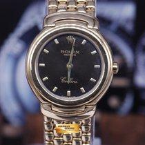 Rolex Geneve Cellini 18k Yellow Gold Ladies Quartz Ref 6621...