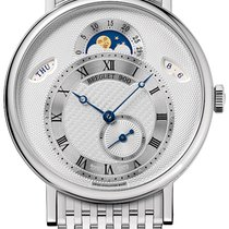 Breguet new Automatic Small Seconds Guilloche Dial 39mm White gold