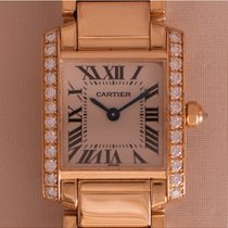 Cartier Tank Française tweedehands 20mm Geelgoud