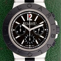 Bulgari Diagono 44mm Automatic Chronograph Aluminium Black Dial