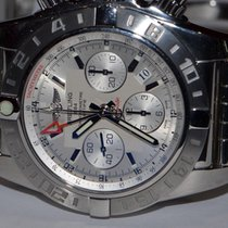 Breitling Chronomat 44 GMT Steel 44mm Silver No numerals United States of America, New York, Greenvale