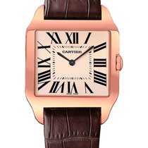 Cartier Red gold Manual winding Silver 44.6mm new Santos Dumont