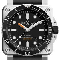 Bell & Ross BR 03-92 Steel Сталь 42mm Черный Без цифр