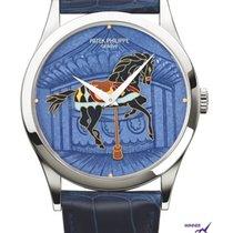 Patek Philippe Calatrava Platinum 38mm Blue No numerals