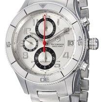 Victorinox Swiss Army Chronograph 45mm Automatic 2011 new Ambassador Silver