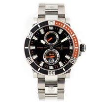 Ulysse Nardin Titanium Automatic Black No numerals 45mm pre-owned Maxi Marine Diver