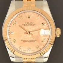 Rolex Lady-Datejust Goud/Staal 31mm Parelmoer Arabisch