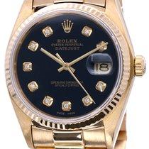 Rolex Geelgoud Automatisch Zwart Geen cijfers 36mm tweedehands Datejust