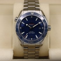 Omega Seamaster Planet Ocean pre-owned 45.5mm Blue Date Titanium