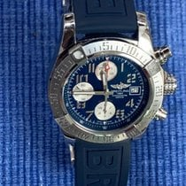 Breitling Avenger II pre-owned 43mm Blue Chronograph Date Silicon