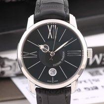 Ulysse Nardin Classico Luna Steel 40mm Black Roman numerals