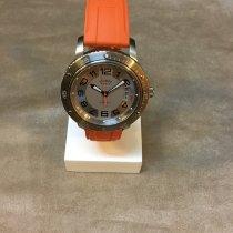 Hermès neu Automatik Leuchtzeiger Verschraubte Krone 41mm Titan Saphirglas
