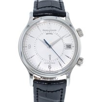 Jaeger-LeCoultre Master Memovox pre-owned 39mm Silver Date Leather